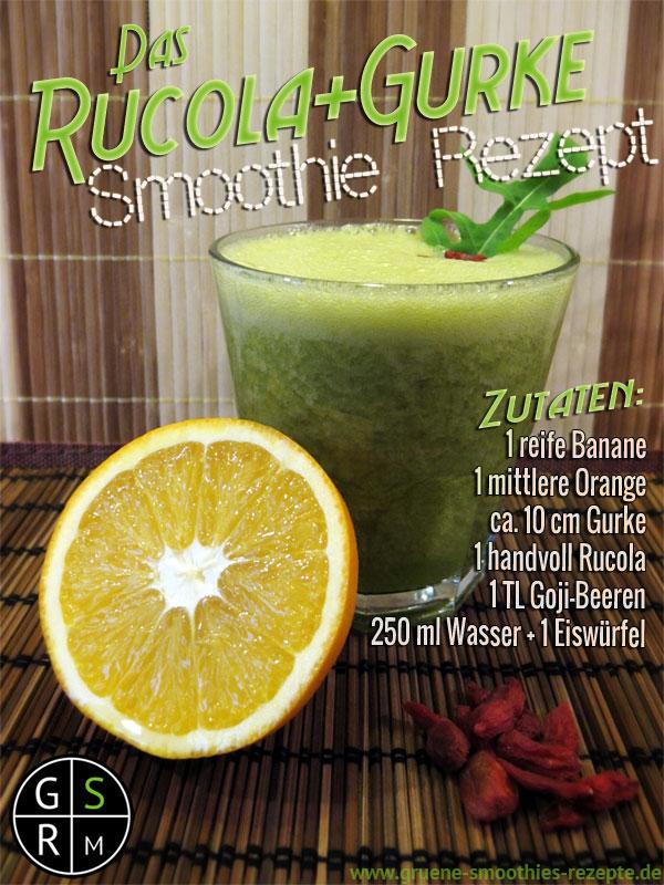 Grüner Smoothie mit Rucola und Goji-Beeren