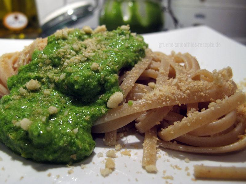 Rucolapesto mit Pasta