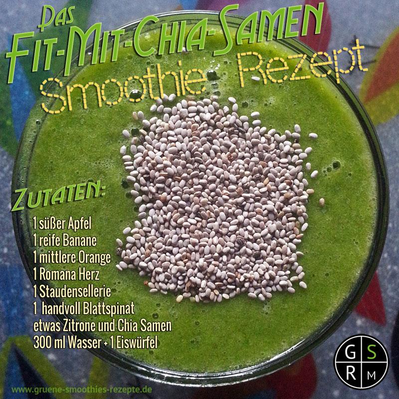 Grüner Smoothie mit dem Superfood Chia Samen