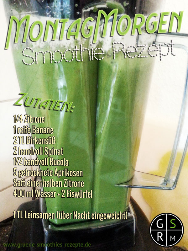 Grüner Smoothie mit Birkensüss