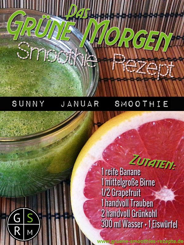 Grüner Smoothie mit Graipefruit und Grünkohl