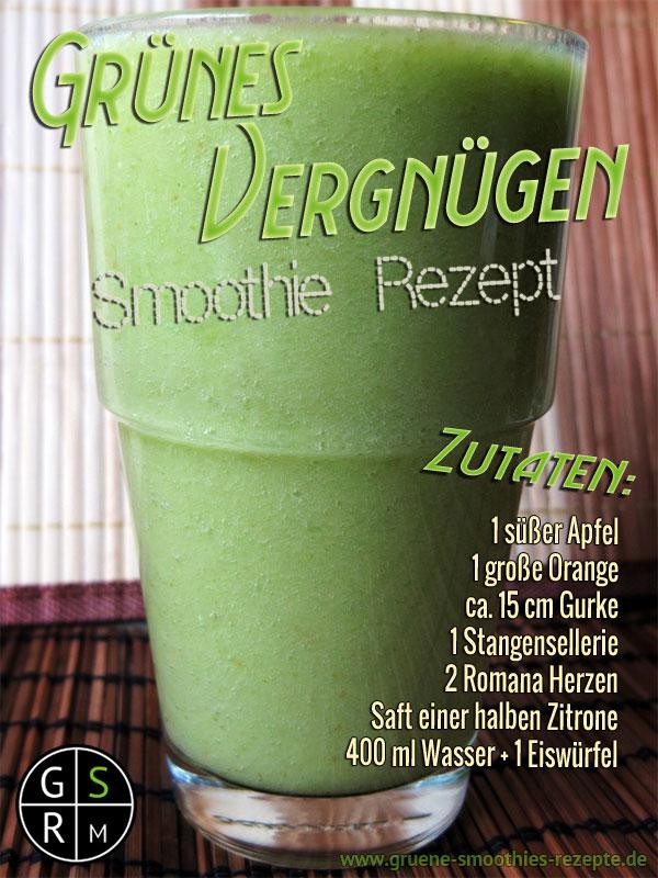 Grüner Smoothie mit Zitrone