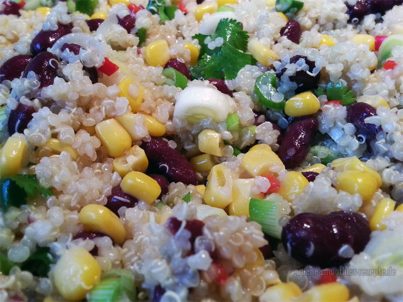 Quinoa Salat - sehr gut geeignet für Partyrezepte, Salate zum Grillen oder als Beilagensalat