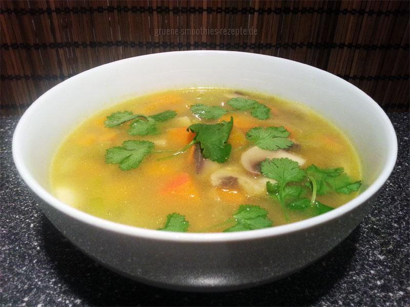 Vegan Fasten - Tag 11 - Thai-Suppe mit Kokos und Kürbis