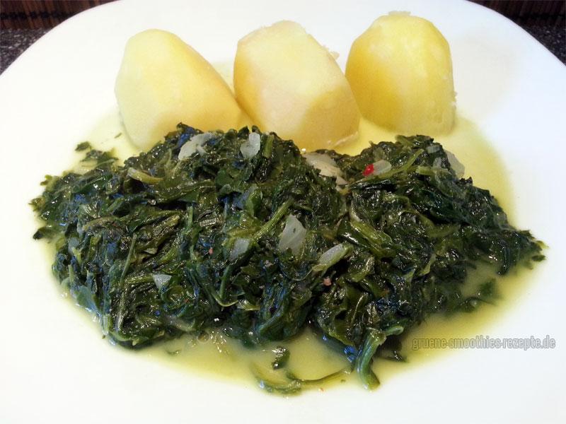 Vegan Fasten - Tag 11 - Der wunderbare Cremespinat mit Kartoffeln