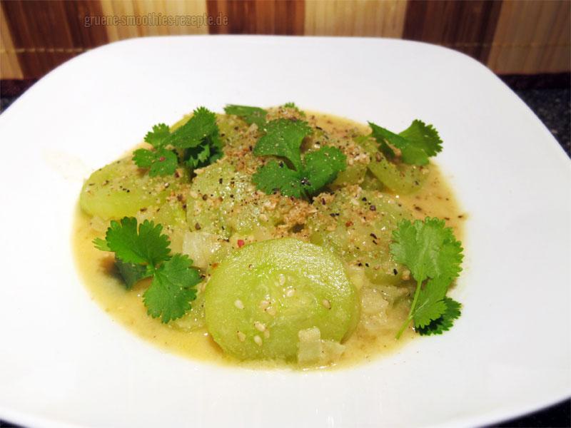Vegan Fasten - Tag 6 - Japanisches Gurkengemüse mit Miso