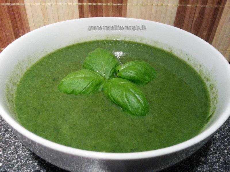 Vegan Fasten - Tag 13 - Spinat-Zucchini-Suppe mit Petersilie