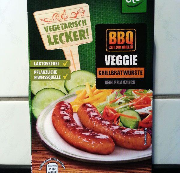 BBQ-Veggie-Grillwürste aud dem Aldi-Süd Sortiment