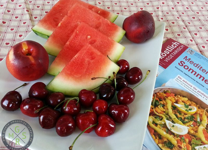 Wassermelone, Kirschen, Nektarinen - Der vorzeige Obstteller :)