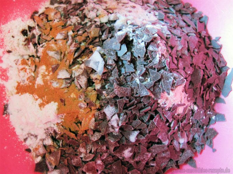Die Füllllung für die Rote Bete Brownies mit Oreofüllung2