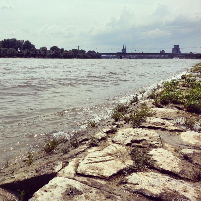 Sonntags Radtour am Rhein