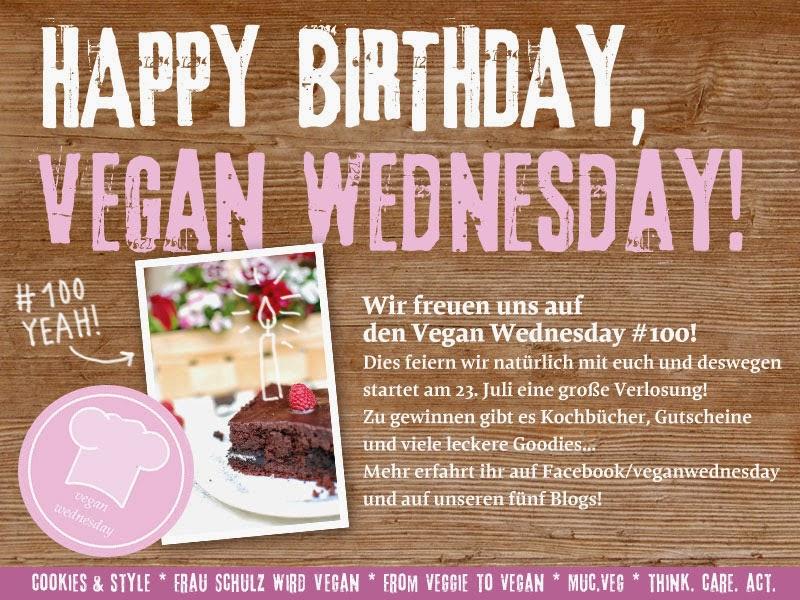 Happy Vegan Wednesday - Die große Verlosung zum 100. Jubiläum