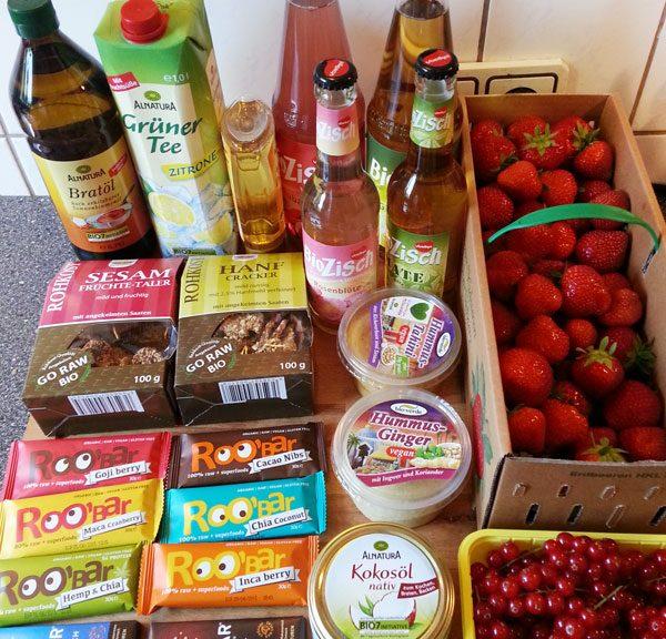Unsere Beute vom Samstagseinkauf bei Alnatura :)