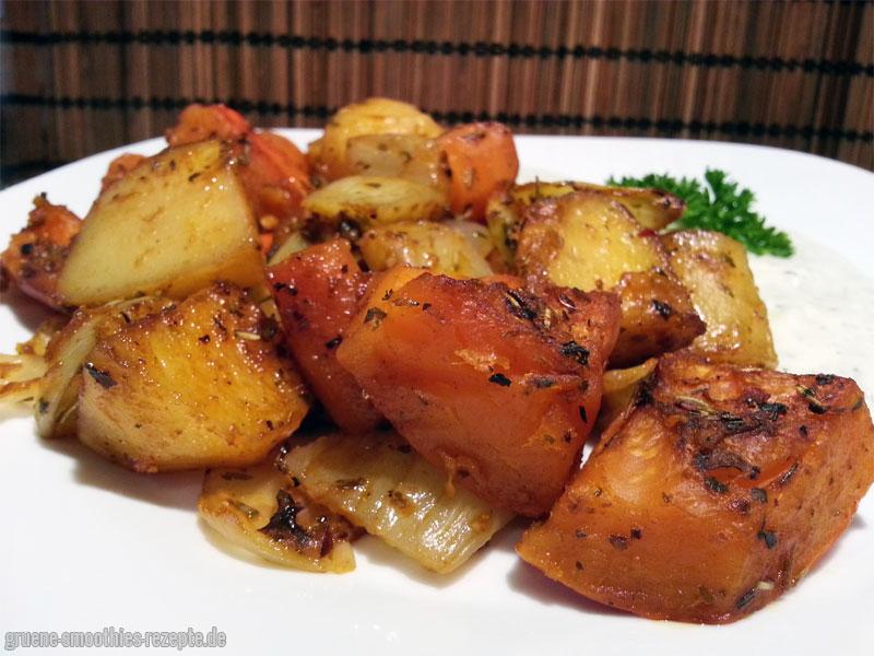 Einfach und Lecker - Herbstliches Ofengemüse mit Hokkaido-Kürbis