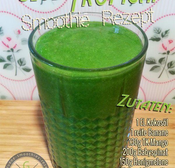 Grüner Smoothie mit Kokosöl