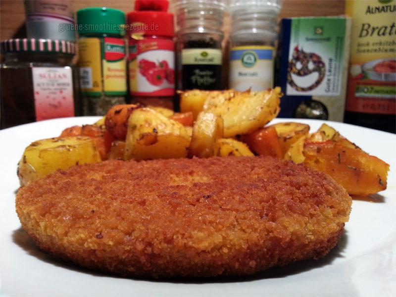 Das vegane Schnitzel von VegaLand mit Backofengemüse von Mrs. Smoothies :)