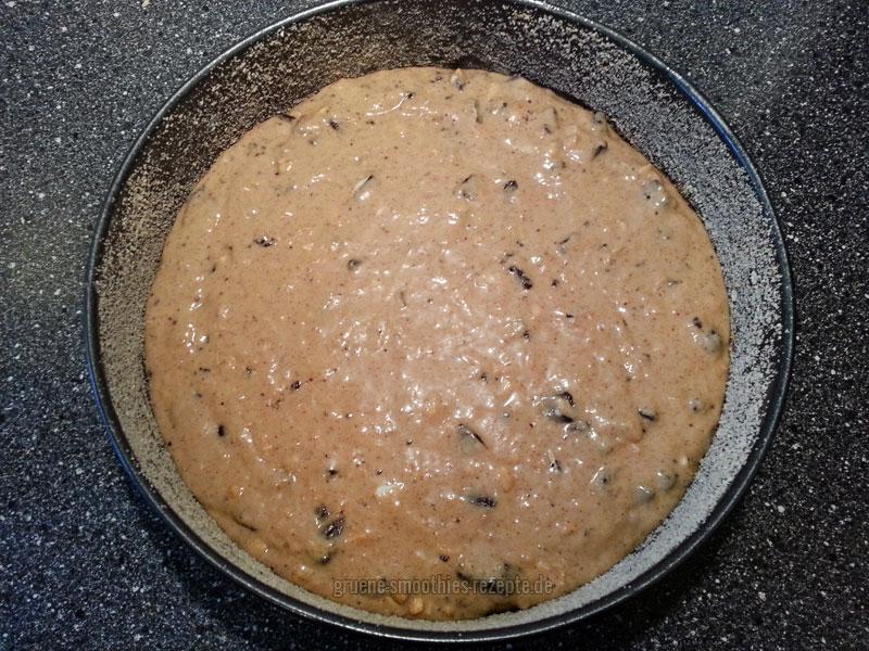 Der fertige Teig für den Oreo-Erdnussbutter-Kuchen