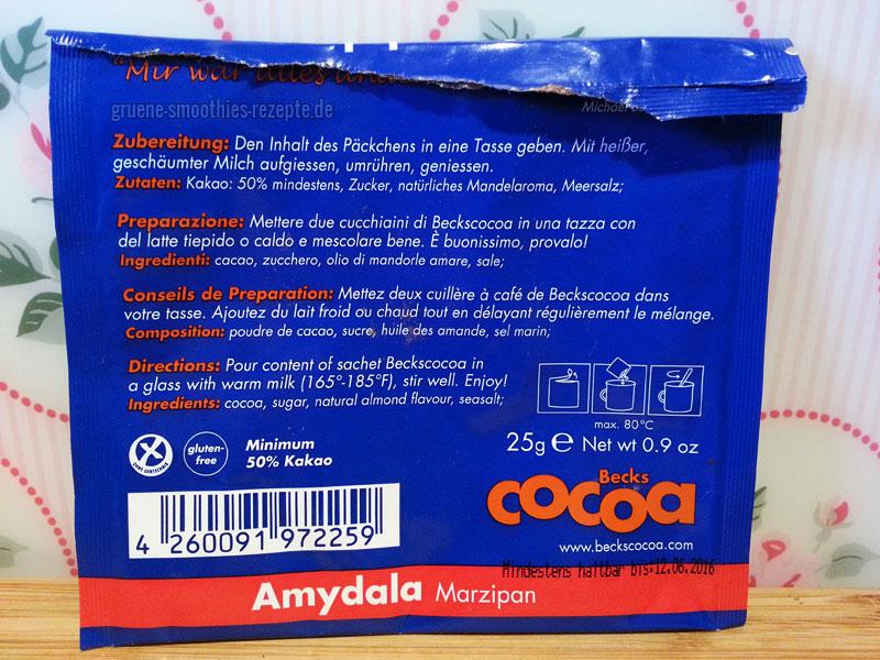 Veganes Marzipan-Kakaopulver von Beckscocoa - Die Zutaten