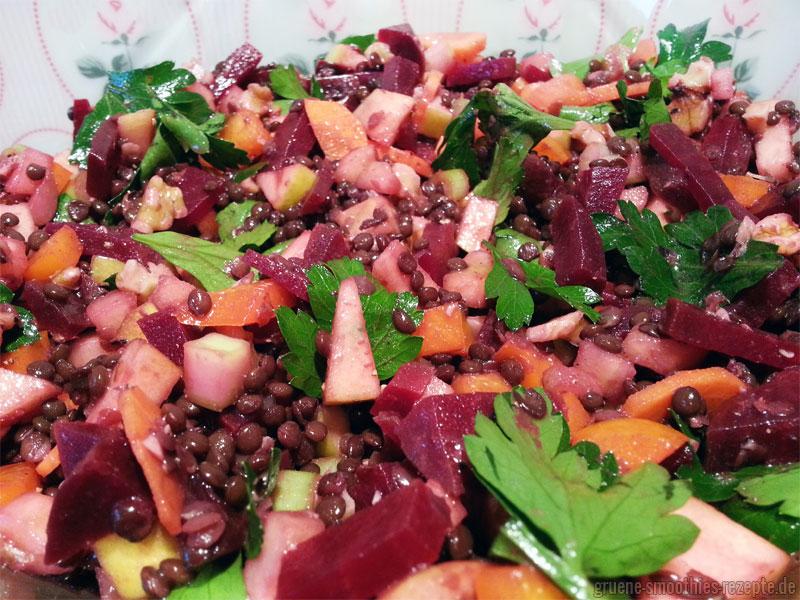 Yammie - Linsen-Apfel-Salat mit Rote Bete
