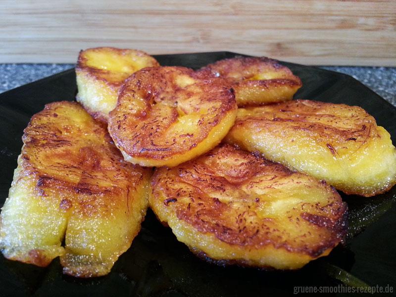 Kochbanane zum Frühstück - gebraten in Kokosöl von Tropicai