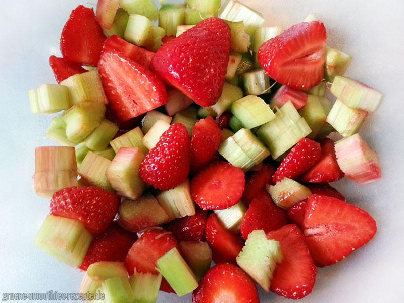Den Rhabarber und die Erdbeer