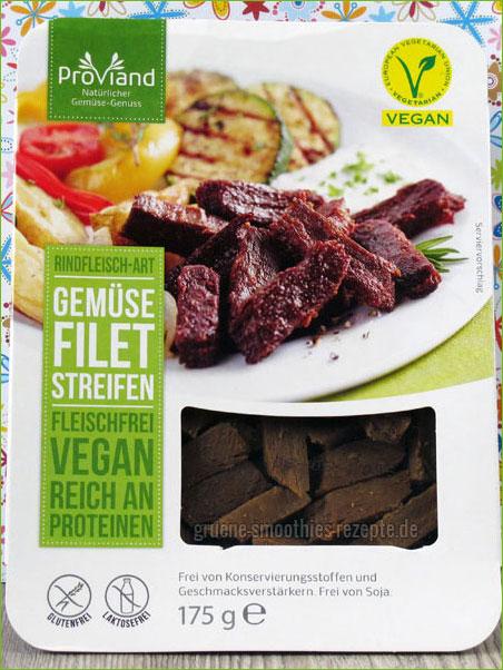 Gemüsestreifen Rindfleisch-Art von Proviand