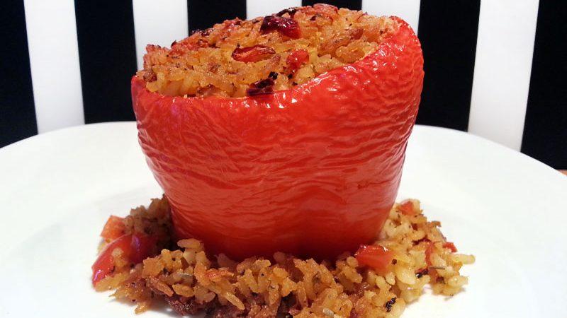 Ciao Ragazzi - die traditionellen Paprika mit mediterraner Reisfüllung aus Apulien in Italien in vegan :)