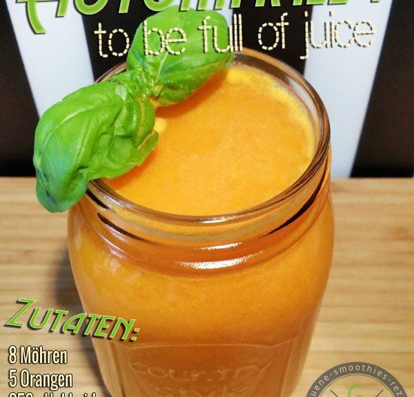 Kaltgepresster Hokkaido-Möhren-Orangen-Saft - Wir sind Herbst!