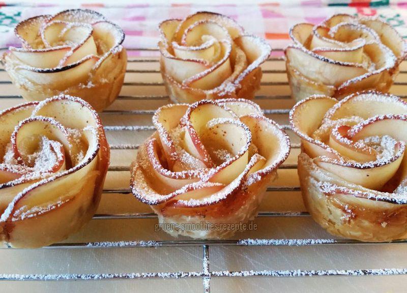 Vegane Apfelrosen in Blätterteig mit dem gewissen WOW-Effekt :)
