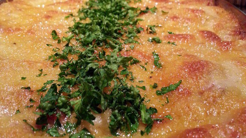 Lasagne mit viel Hefeschmelz - nachher