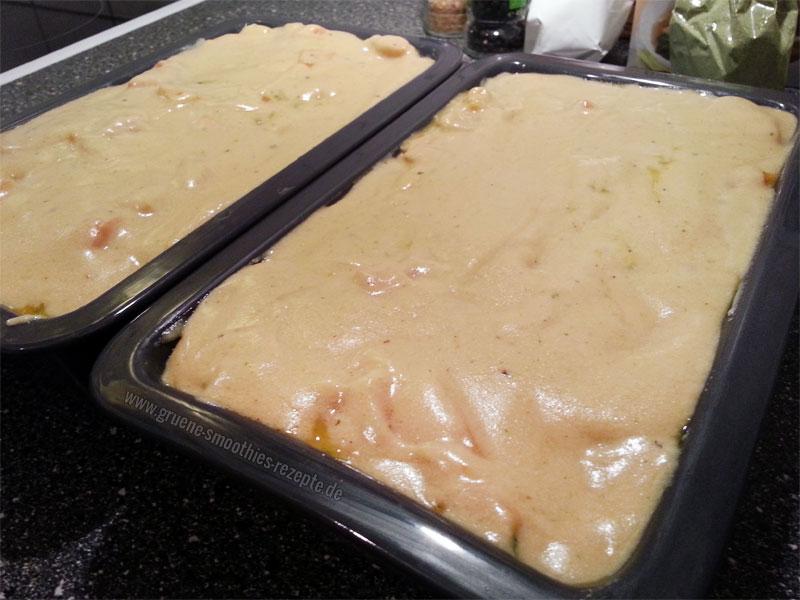 Lasagne mit viel Hefeschmelz - vorher