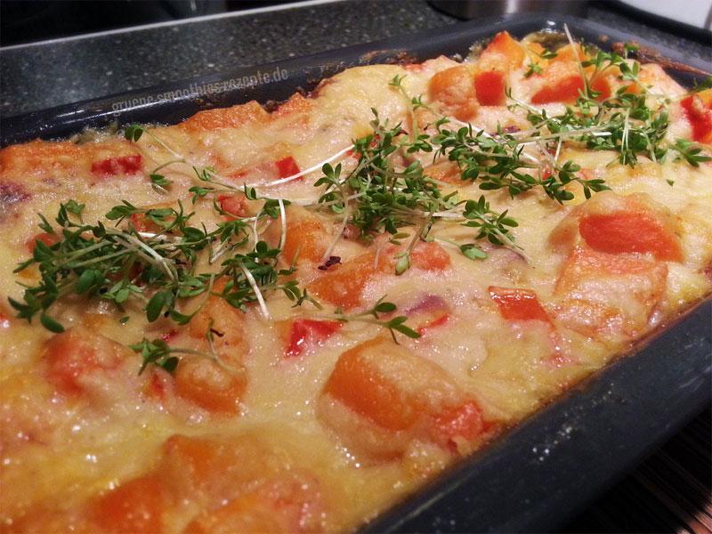Vegane Lasagne mit wenig Hefeschmelz - nachher